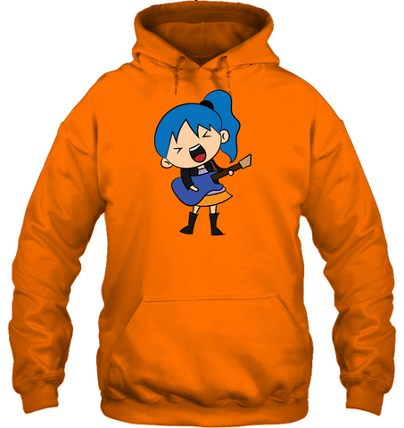 Girl Singin with Guitar -  Gildan Adult Heavy Blend™ Hoodie