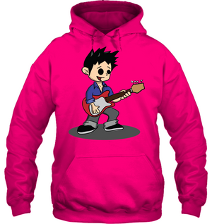 Boy Playing Guitar - Gildan Adult Heavy Blend™ Hoodie