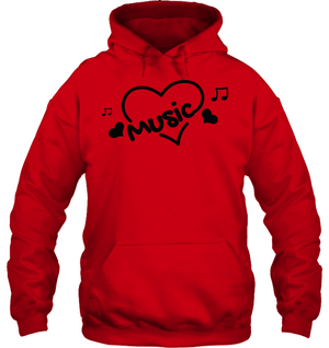Music Hearts and Notes - Gildan Adult Heavy Blend™ Hoodie