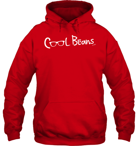 Cool Beans - White (Style 2) - Gildan Adult Heavy Blend™ Hoodie