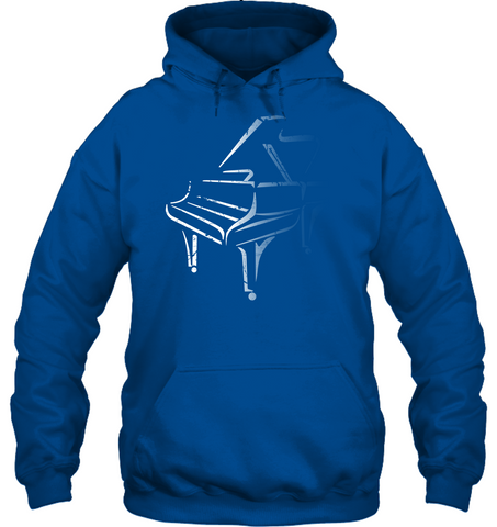 White Piano in the Shadows - Gildan Adult Heavy Blend™ Hoodie