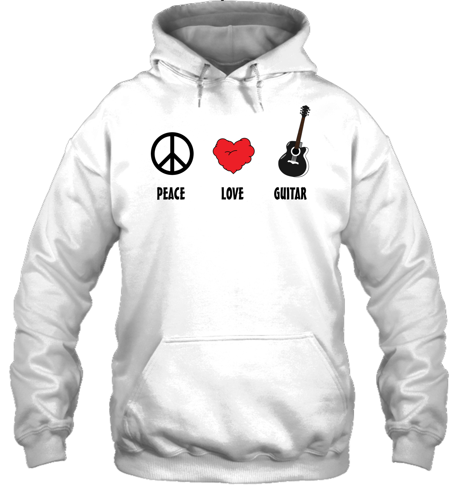 Peace Love Guitar - Gildan Adult Heavy Blend™ Hoodie