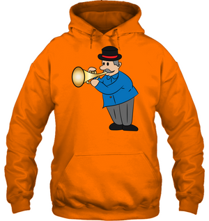 Man with Trumpet - Gildan Adult Heavy Blend™ Hoodie
