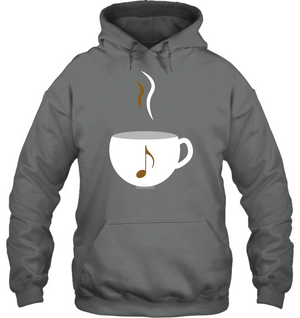 I Love Coffee with a splash of music - Gildan Adult Heavy Blend™ Hoodie