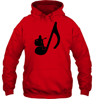 Sitting on a Note (Black) - Gildan Adult Heavy Blend™ Hoodie