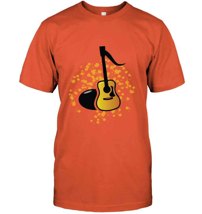 Acoustic Guitar Note - Hanes Adult Tagless® T-Shirt