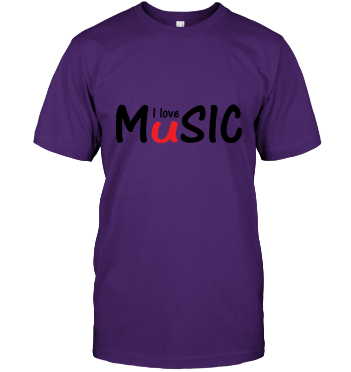I Love Music plain and simple - Hanes Adult Tagless® T-Shirt