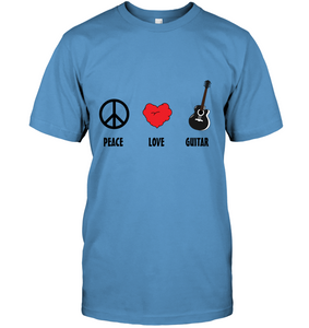 Peace Love Guitar - Hanes Adult Tagless® T-Shirt