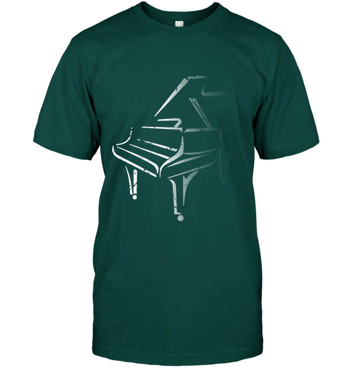 White Piano in the Shadows - Hanes Adult Tagless® T-Shirt