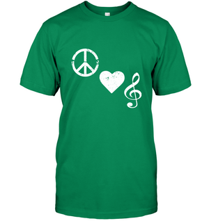 Peace Heart Musical Clef - Hanes Adult Tagless® T-Shirt