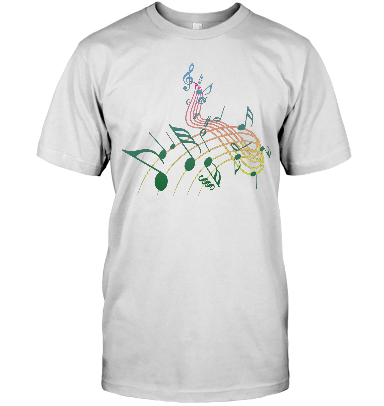 Musical Swirl - Hanes Adult Tagless® T-Shirt