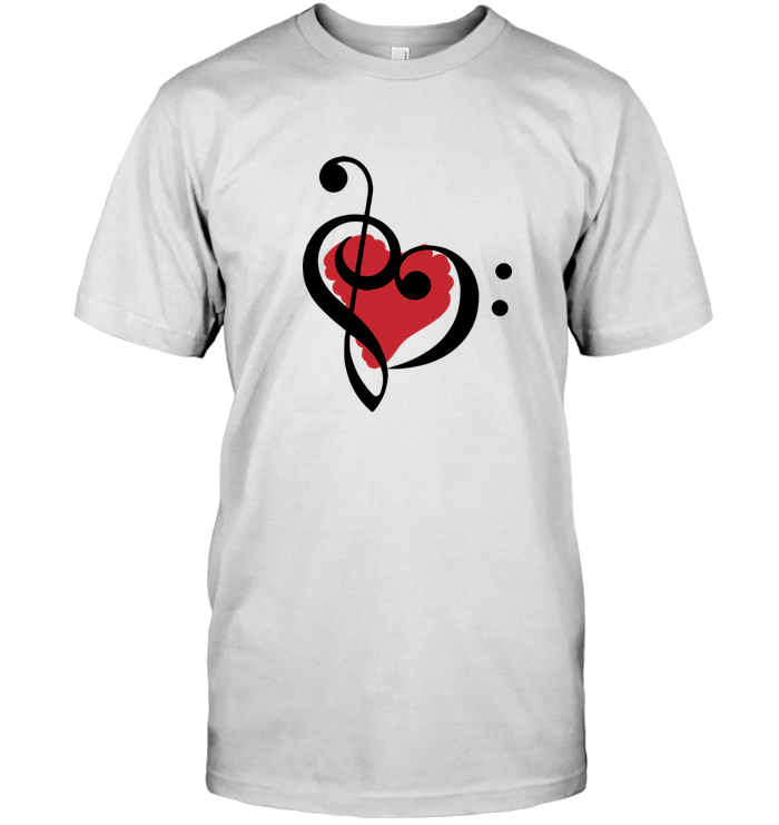 Treble Bass Red Heart - Hanes Adult Tagless® T-Shirt