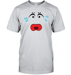 I Miss Music Teary Face - Hanes Adult Tagless® T-Shirt