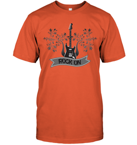 Rock On Electric Guitar - Hanes Adult Tagless® T-Shirt