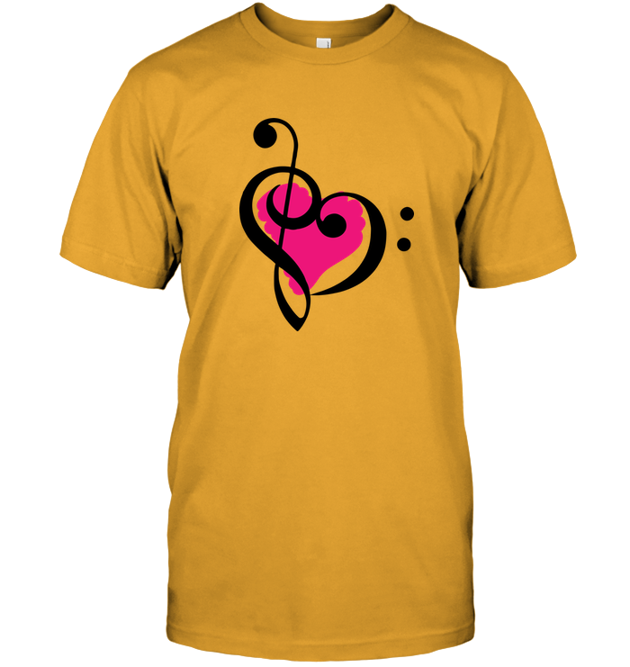 Treble Bass Pink Heart - Hanes Adult Tagless® T-Shirt