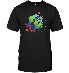 A Colorful Splash of Music - Hanes Adult Tagless® T-Shirt