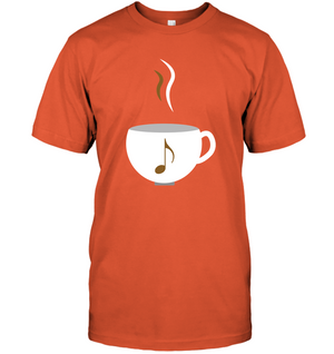 I Love Coffee with a splash of music - Hanes Adult Tagless® T-Shirt