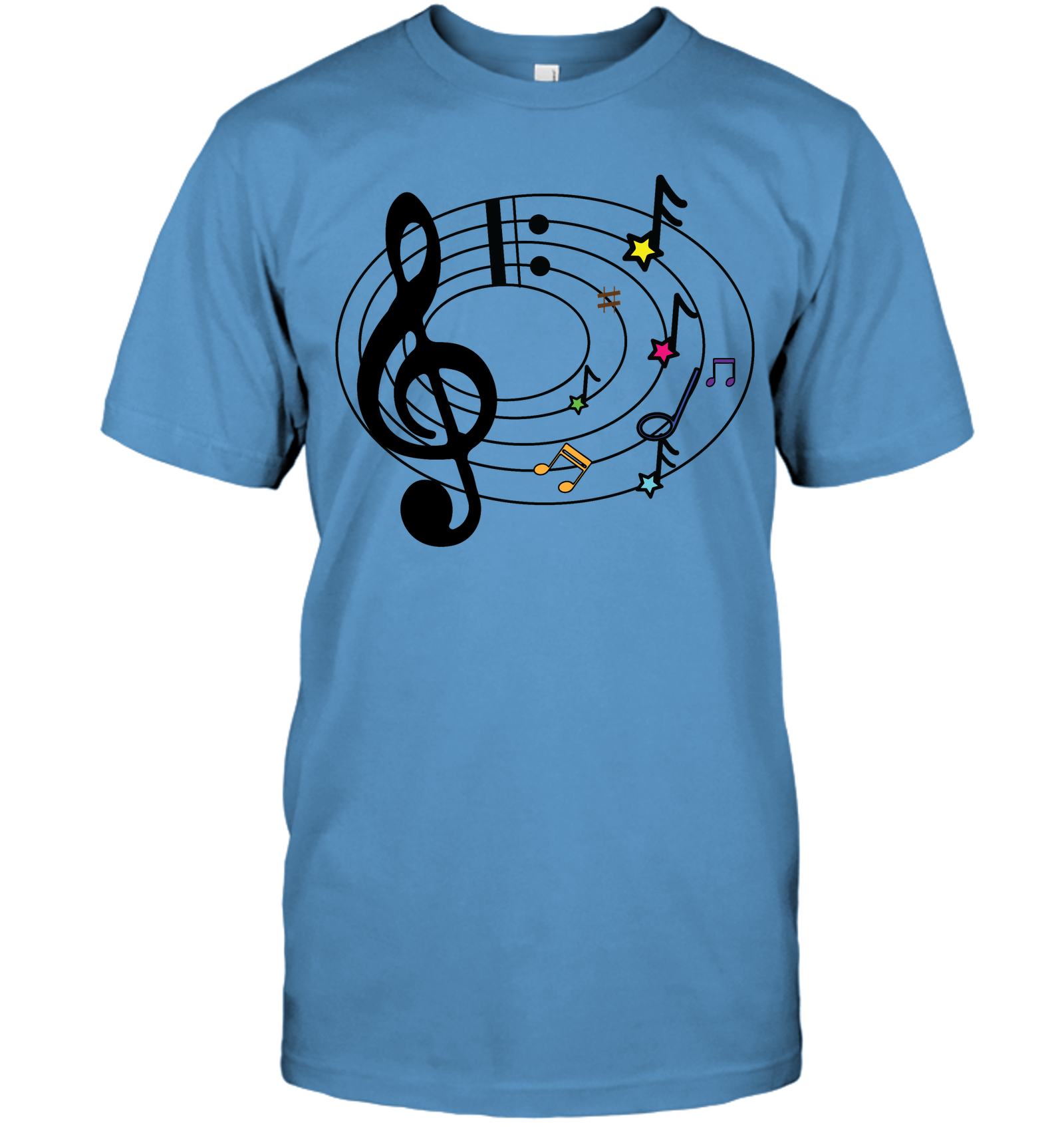 Musical Notes Spiral - Hanes Adult Tagless® T-Shirt