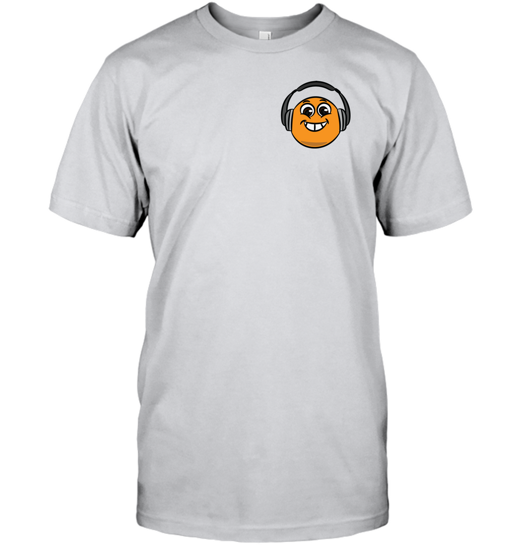 Eager Orange with Headphone (Pocket Size) - Hanes Adult Tagless® T-Shirt