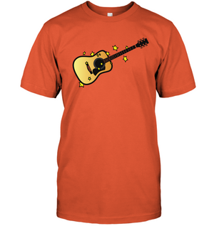Acoustic Guitar in the Stars - Hanes Adult Tagless® T-Shirt