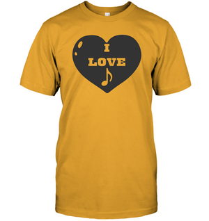 I Love Note Heart - Hanes Adult Tagless® T-Shirt