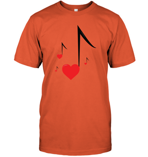 Four Floating Heart Notes - Hanes Adult Tagless® T-Shirt