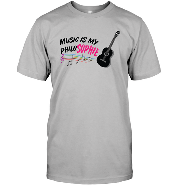 Music is my Philo-Sophie Colorful + Guitar - Hanes Adult Tagless® T-Shirt