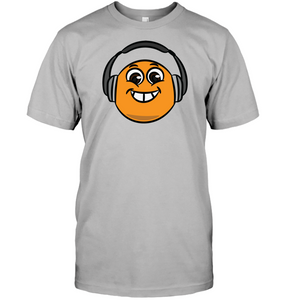 Eager Orange with Headphone - Hanes Adult Tagless® T-Shirt