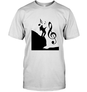 Playin Guitar on the Hill - Hanes Adult Tagless® T-Shirt