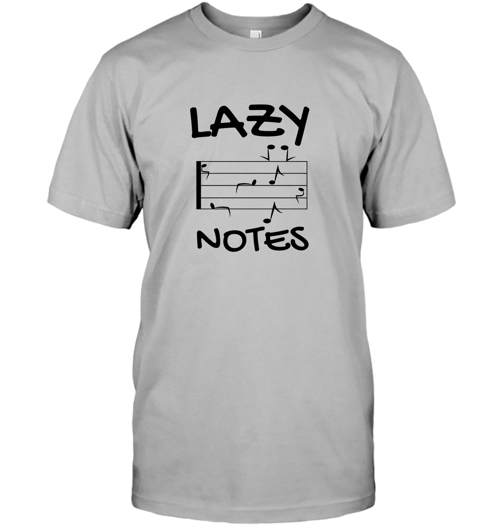 Lazy Notes (Black) - Hanes Adult Tagless® T-Shirt