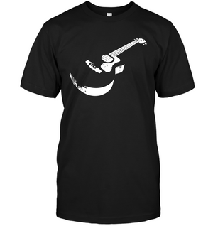 Cool white acoustic guitar - Hanes Adult Tagless® T-Shirt