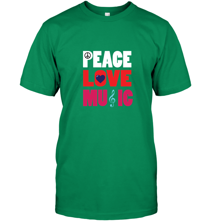 Peace Love Music - Hanes Adult Tagless® T-Shirt