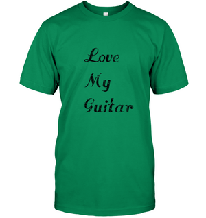 Love My Guitar simple and true - Hanes Adult Tagless® T-Shirt