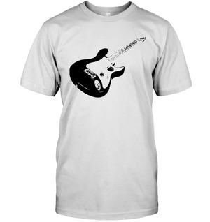 Cool black electric guitar - Hanes Adult Tagless® T-Shirt