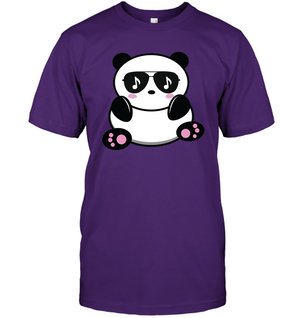 Cool Music Loving Panda feeling the beat - Hanes Adult Tagless® T-Shirt