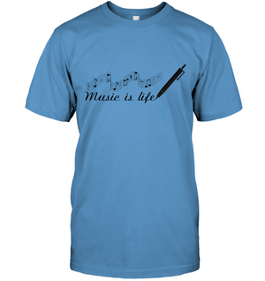 Music is Life Note - Hanes Adult Tagless® T-Shirt