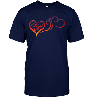 Hearts Music Fun - Hanes Adult Tagless® T-Shirt