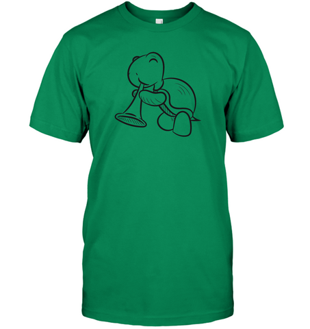 Turtle with Trumpet - Hanes Adult Tagless® T-Shirt