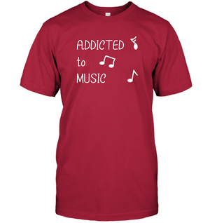 Addicted to Music - Hanes Adult Tagless® T-Shirt
