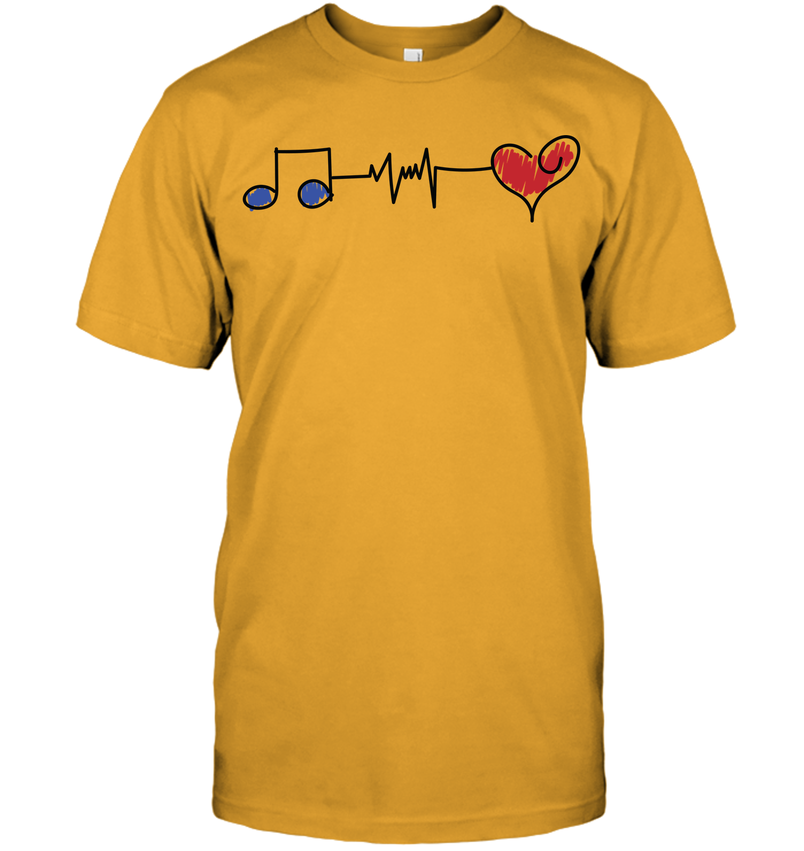 Musical Connections Blue - Hanes Adult Tagless® T-Shirt