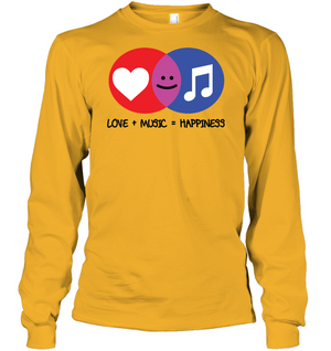 Love and Music is Happiness - Gildan Adult Classic Long Sleeve T-Shirt