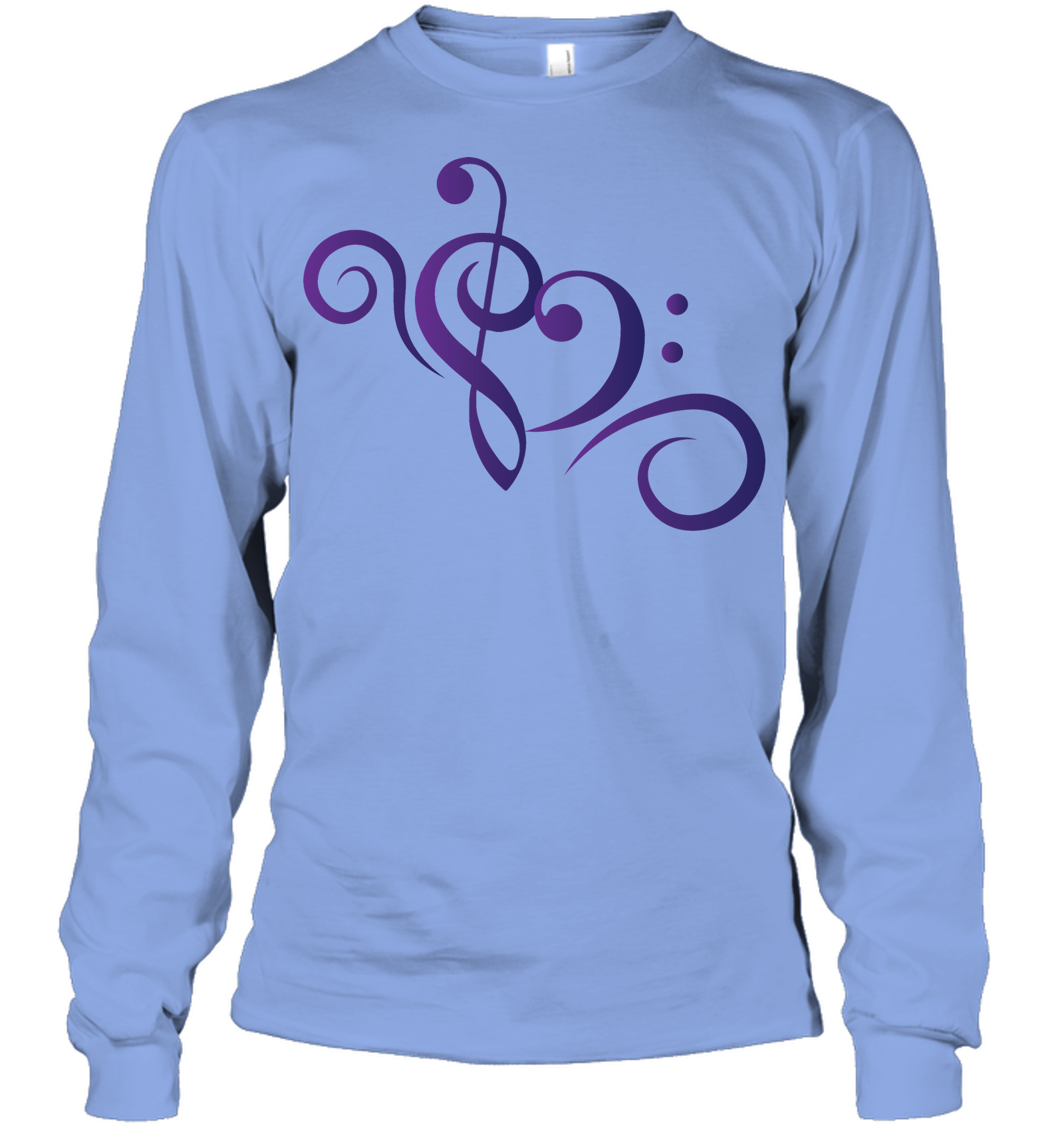 Treble Bass Heart Swirl - Gildan Adult Classic Long Sleeve T-Shirt