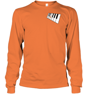 Floating Piano Keyboard (Pocket Size) - Gildan Adult Classic Long Sleeve T-Shirt
