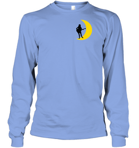 Moonlight Guitar Player (Pocket Design) - Gildan Adult Classic Long Sleeve T-Shirt