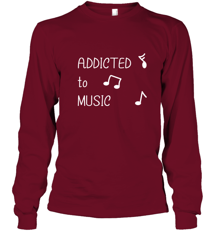Addicted to Music - Gildan Adult Classic Long Sleeve T-Shirt