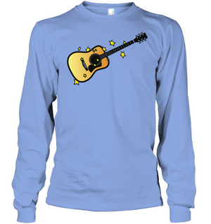 Acoustic Guitar in the Stars - Gildan Adult Classic Long Sleeve T-Shirt
