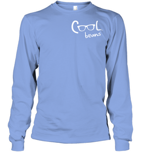 Cool Beans - White (Pocket Size) - Gildan Adult Classic Long Sleeve T-Shirt