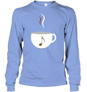 I Love Coffee with a splash of music - Gildan Adult Classic Long Sleeve T-Shirt