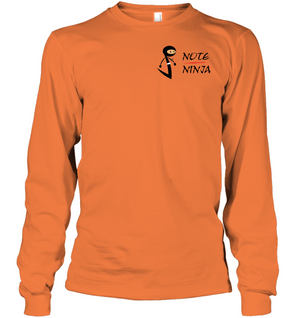 Musical Note Ninja (Pocket Size) - Gildan Adult Classic Long Sleeve T-Shirt