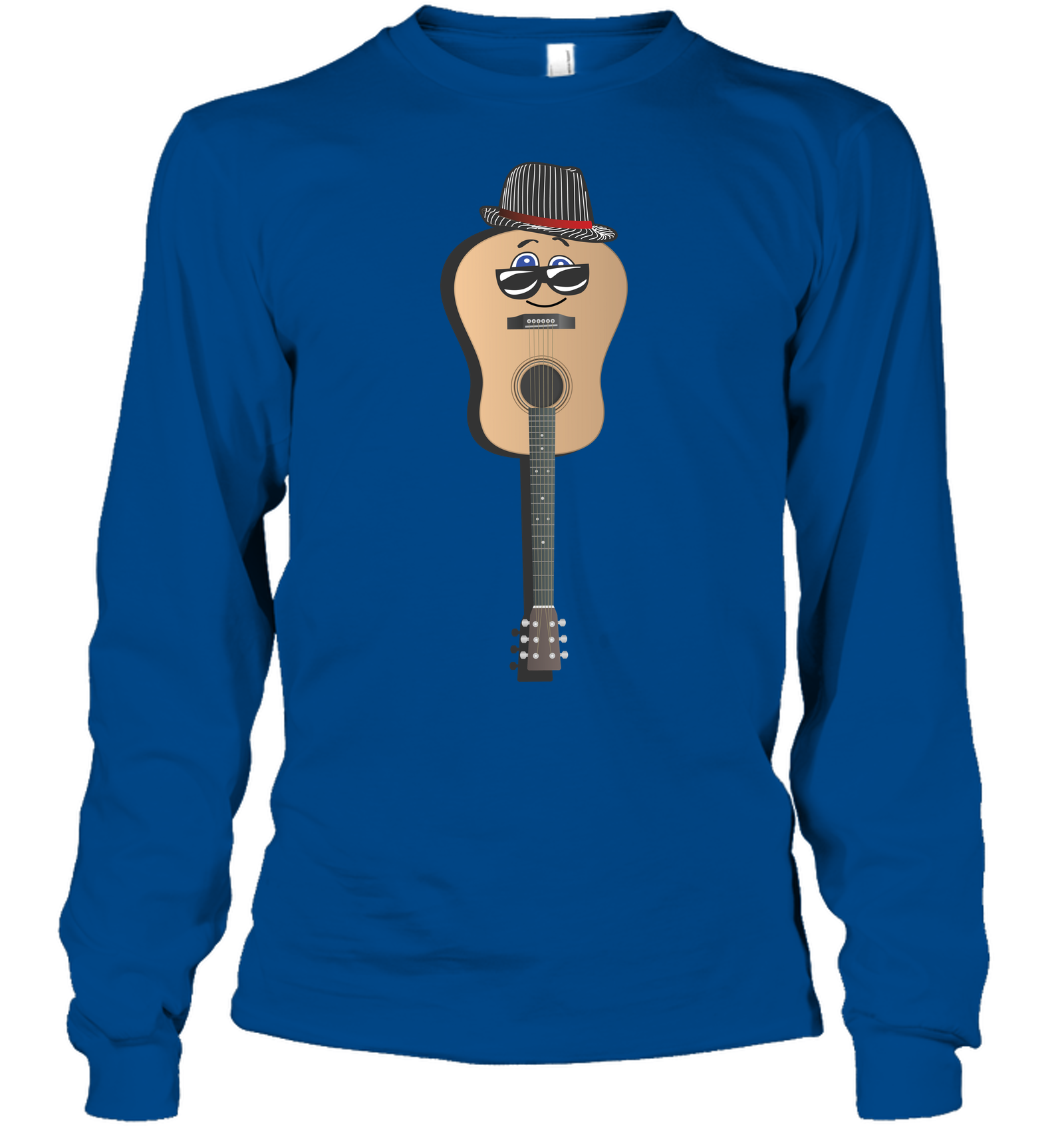 Guitar Man - Gildan Adult Classic Long Sleeve T-Shirt